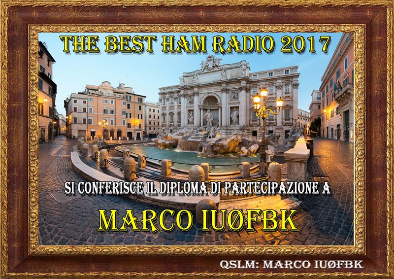 """THE BEST HAM RADIO 2017"" AWARD"