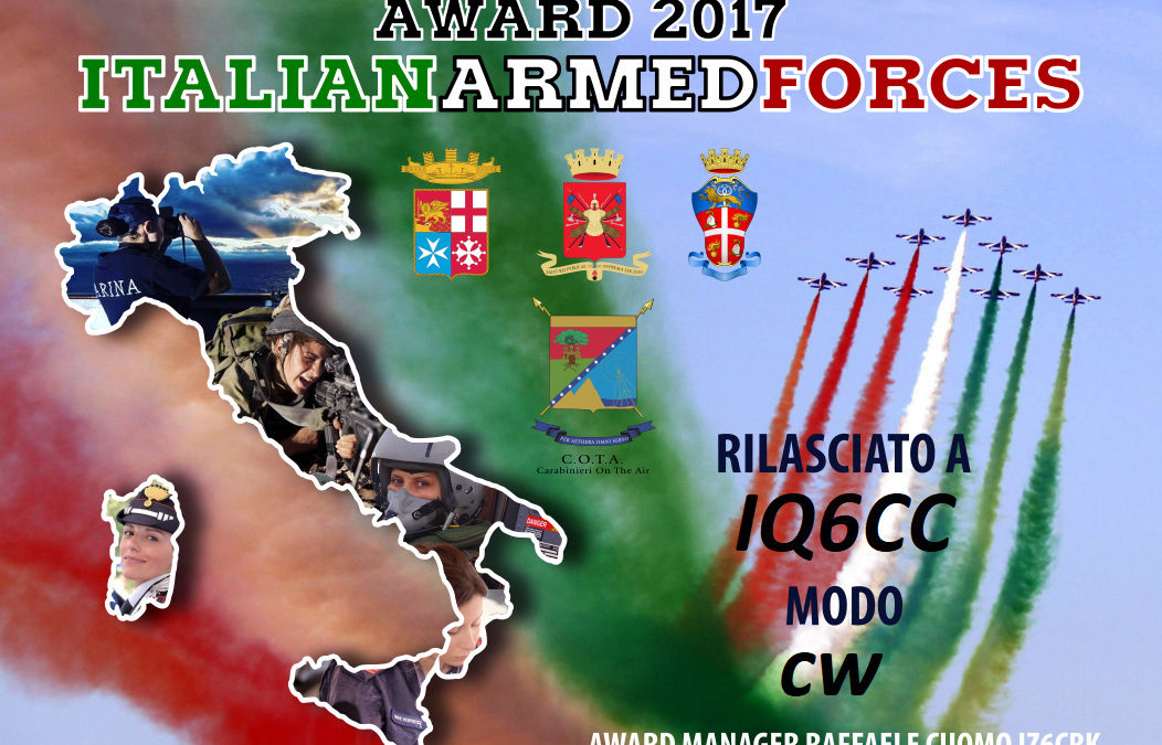 Italian Armed Forces Award 2017