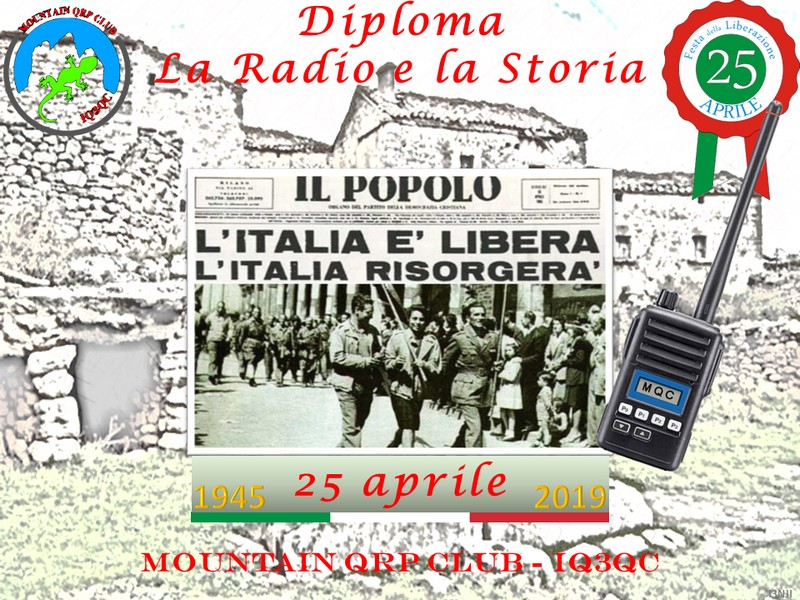 "Diploma ""La Radio e la Storia""  – 25 Aprile 1945"