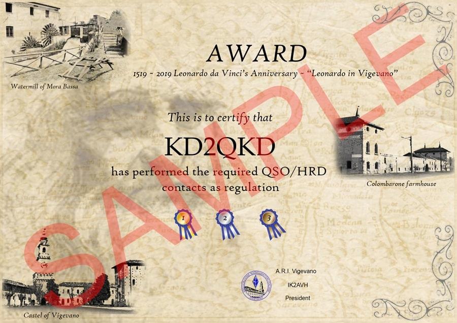 """Diploma """"Anniversario Leonardo da Vinci"""""""