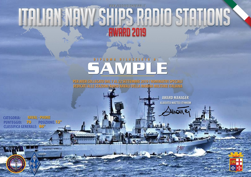Italian Navy Ship Radio Award 2019