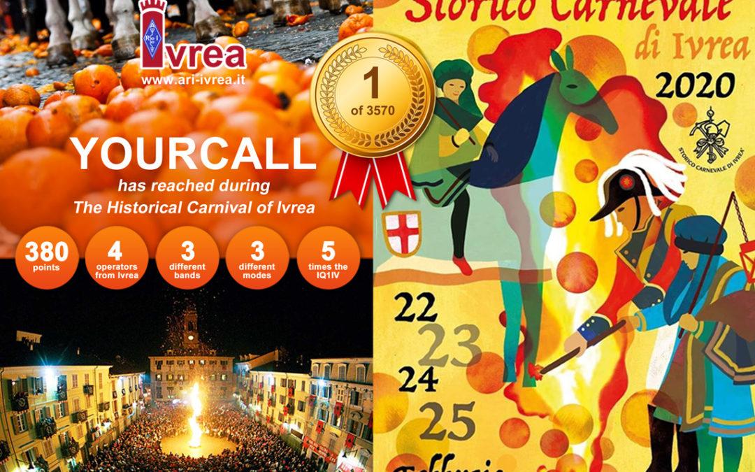 Diploma Storico Carnevale di Ivrea