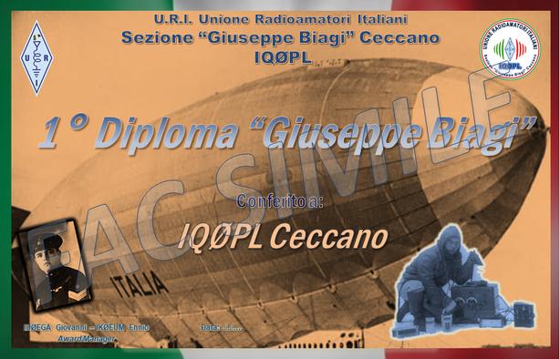 """1° Diploma """"Giuseppe Biagi"""""""