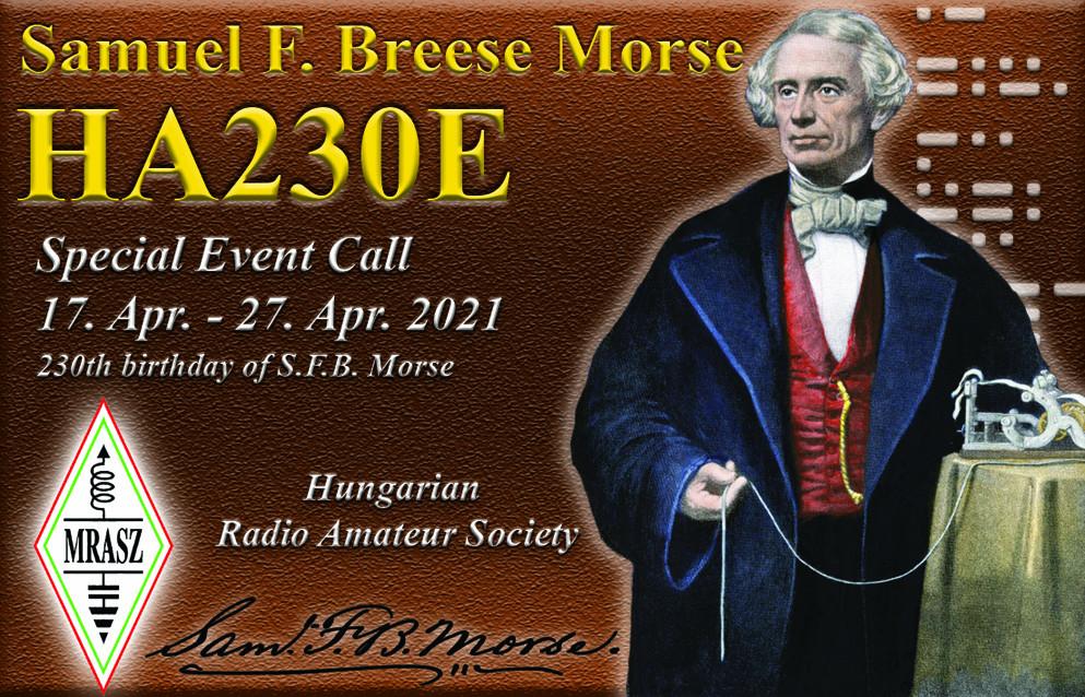 230th anniversary of the birth of the creator of Morse code