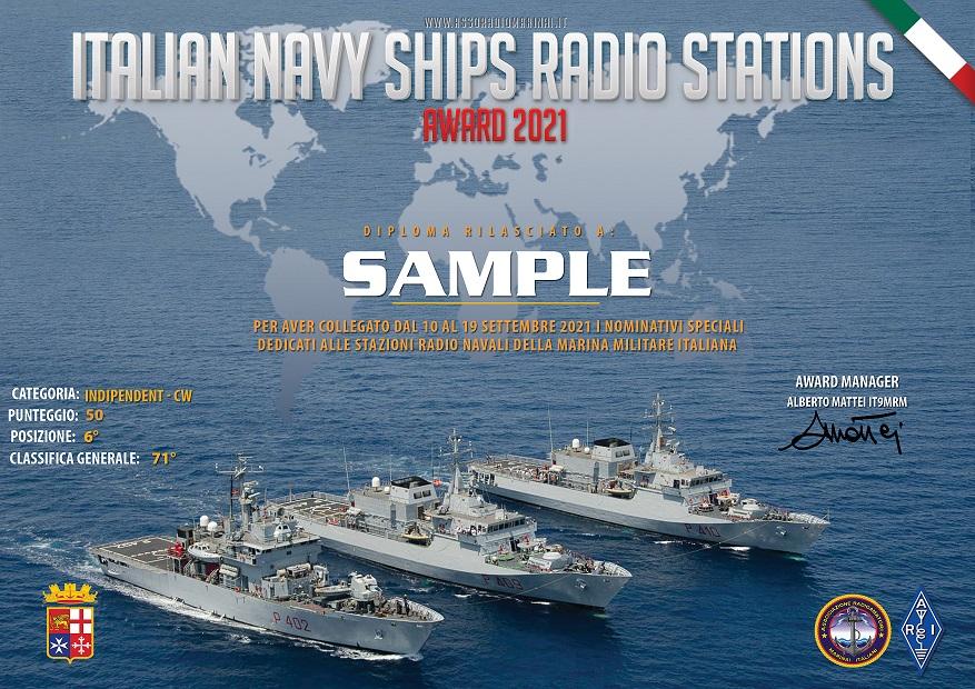 Italian Navy Ship Radio Stations Award